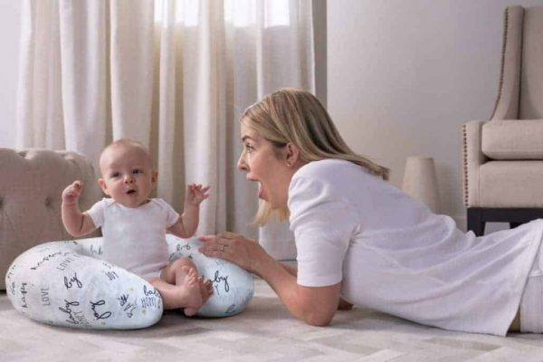 Feeding Pillows Boppy Pillow with Cotton Slipover Pitter Patter Baby NI 5