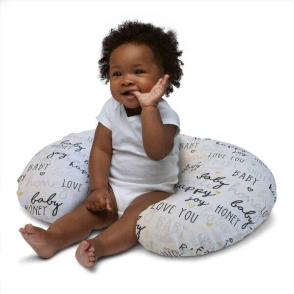 Feeding Pillows Boppy Pillow with Cotton Slipover Pitter Patter Baby NI 8