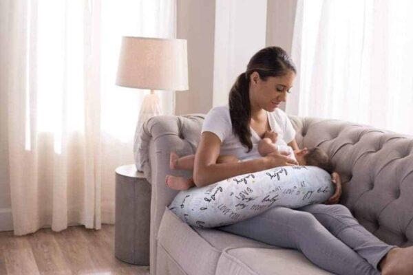 Feeding Pillows Boppy Pillow with Cotton Slipover Pitter Patter Baby NI 11