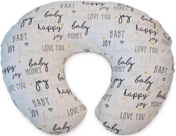 Feeding Pillows Boppy Pillow with Cotton Slipover Pitter Patter Baby NI 10
