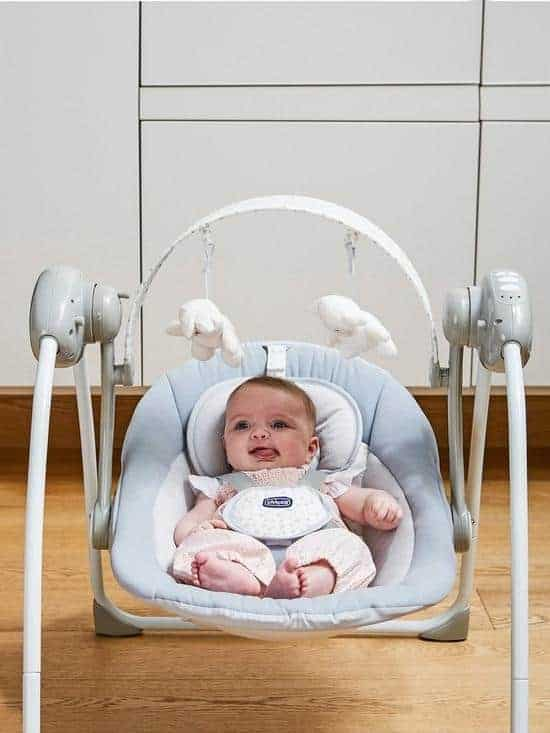 Bouncers & Rockers Chicco relax and play swing cool grey Pitter Patter Baby NI 5