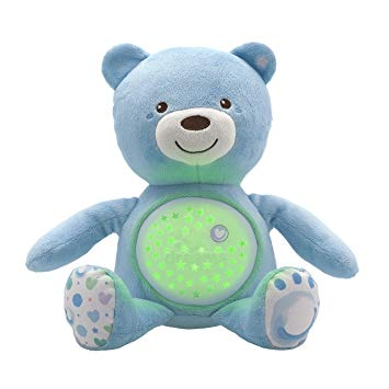 Night Lights & Cot Mobiles Chicco Baby Bear Blue Projector Pitter Patter Baby NI 6