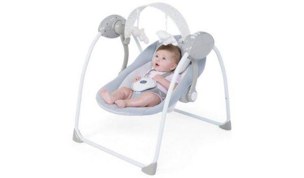 Bouncers & Rockers Chicco relax and play swing cool grey Pitter Patter Baby NI 4