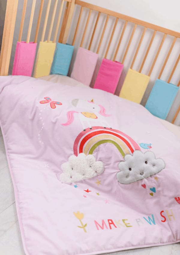 Bedding Sets Cot Bed Bumper Wraps Pitter Patter Baby NI 4