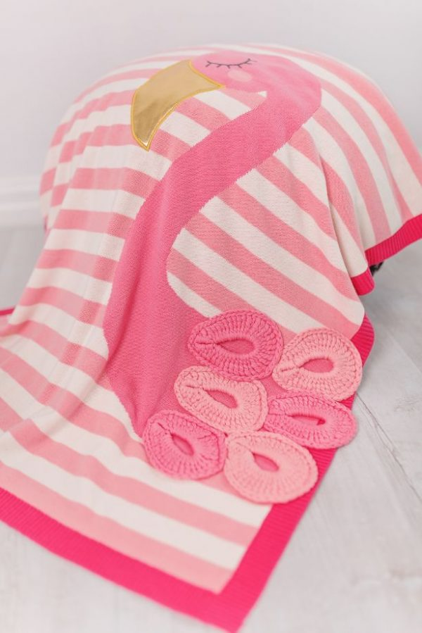 Blankets & Sleeping Bags Pink Flamingo Picture Baby Blanket – Pink Pitter Patter Baby NI 4