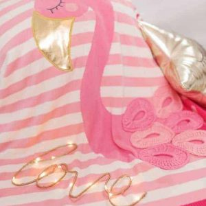 Pink Flamingo Picture Baby Blanket – Pink