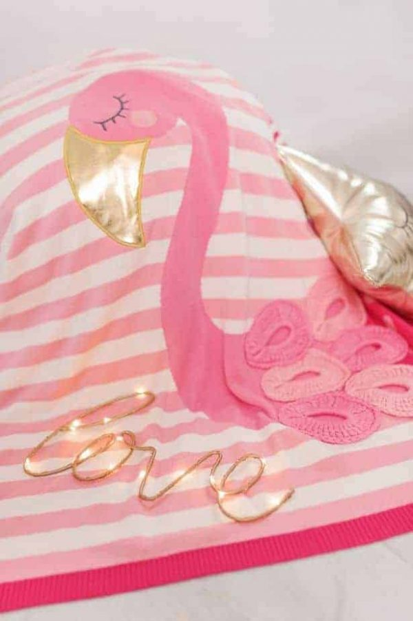 Blankets & Sleeping Bags Pink Flamingo Picture Baby Blanket – Pink Pitter Patter Baby NI 3