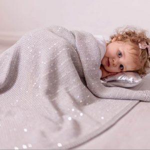 Silver Sparkle baby blanket