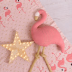 Pink Flamingo knitted baby blanket