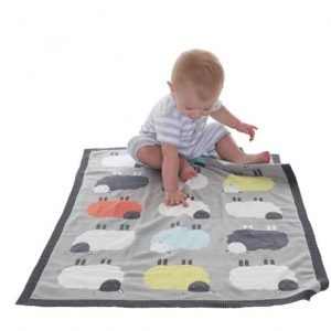 Bedding The Flock knitted blanket Pitter Patter Baby NI