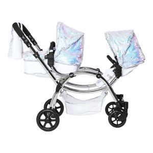 Roma Polly Amy Childs Twin Dolls Pram – Mermaid 3-16 years