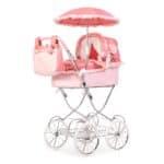 Roma Annie Classic Dolls Pram – Pink 3-16 years