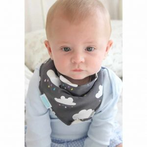 Dribble Bib – grey cloud