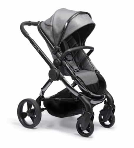 Travel Systems Peach Pushchair and Carrycot Grey Twill on Phantom Pitter Patter Baby NI 12