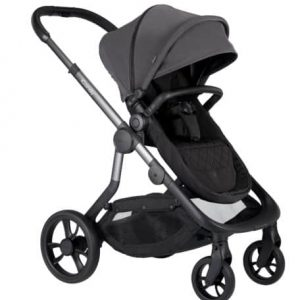 Orange Pushchair and Carrycot – Charcoal