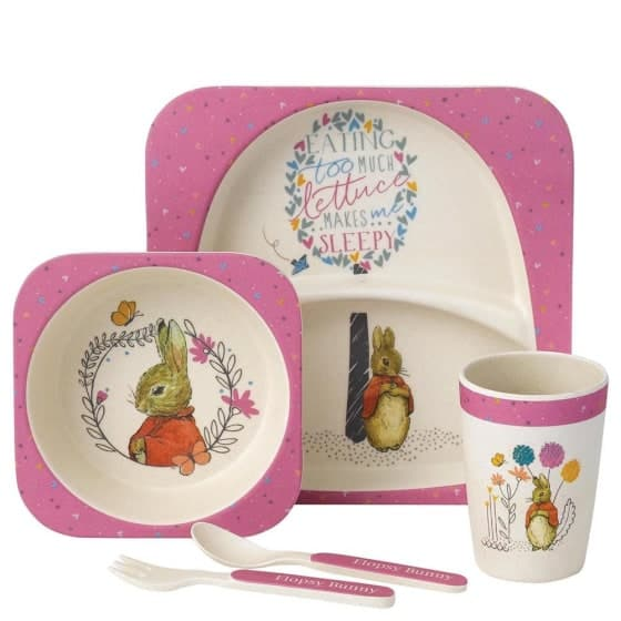 Baby Gifts Flopsy Bamboo Dinner Set Pitter Patter Baby NI 4