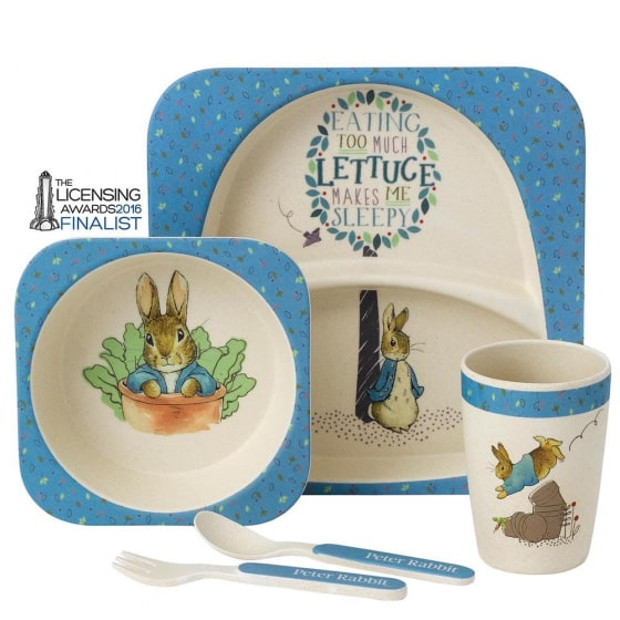 Baby Gifts Peter Rabbit Bamboo Dinner Set Pitter Patter Baby NI 5