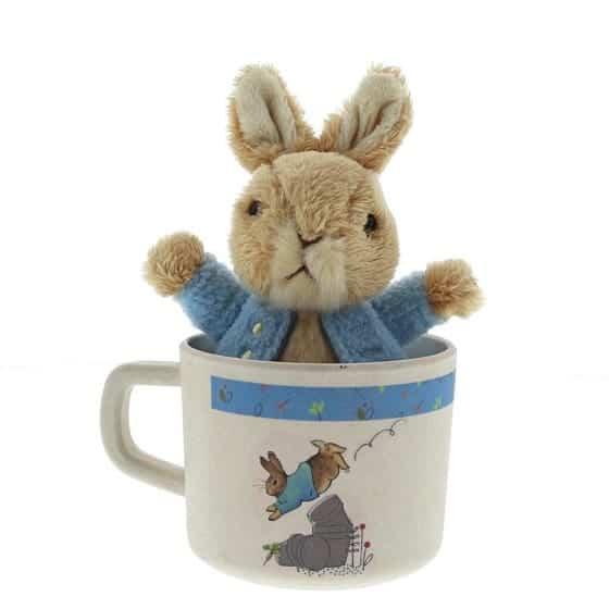 Christmas Peter Rabbit Bamboo Mug & Soft Toy Gift Set Pitter Patter Baby NI 4