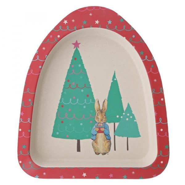 Dinner sets Peter Rabbit Christmas Organic Dinner Set Pitter Patter Baby NI 6