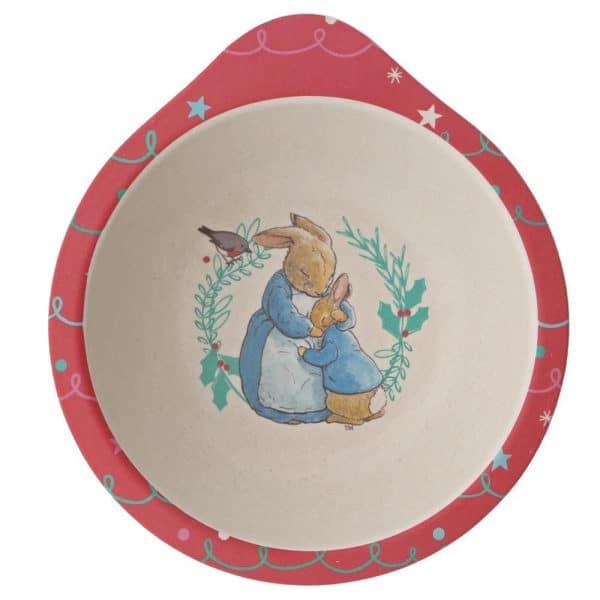 Dinner sets Peter Rabbit Christmas Organic Dinner Set Pitter Patter Baby NI 10