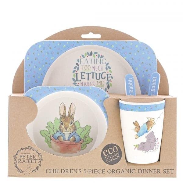 Baby Gifts Peter Rabbit Bamboo Dinner Set Pitter Patter Baby NI 4