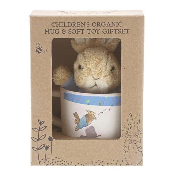 Christmas Peter Rabbit Bamboo Mug & Soft Toy Gift Set Pitter Patter Baby NI 6