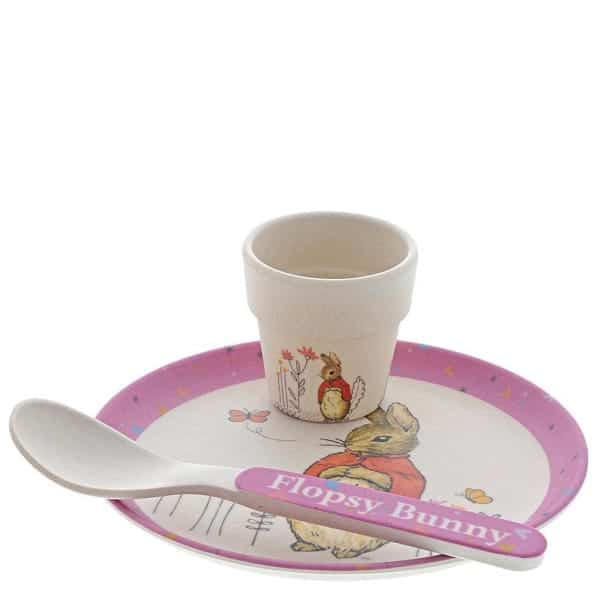 Dinner sets Flospy Bamboo Egg Cup Dinner Set Pitter Patter Baby NI 4
