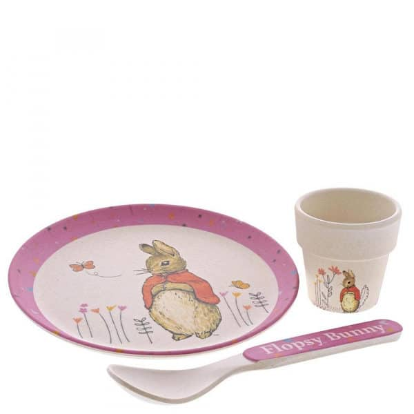 Dinner sets Flospy Bamboo Egg Cup Dinner Set Pitter Patter Baby NI 8