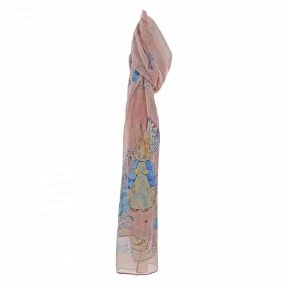 Christmas Peter Rabbit Garden Party Scarf (Pink) Pitter Patter Baby NI 4