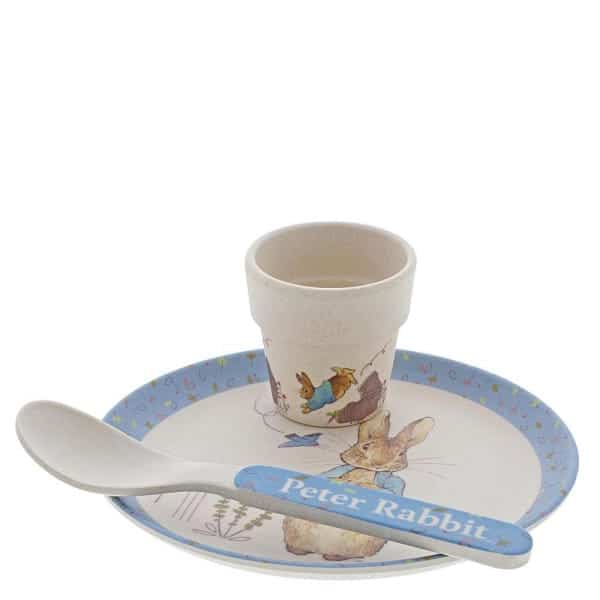 Christmas Peter Rabbit Bamboo Egg Cup Dinner Set Pitter Patter Baby NI 4