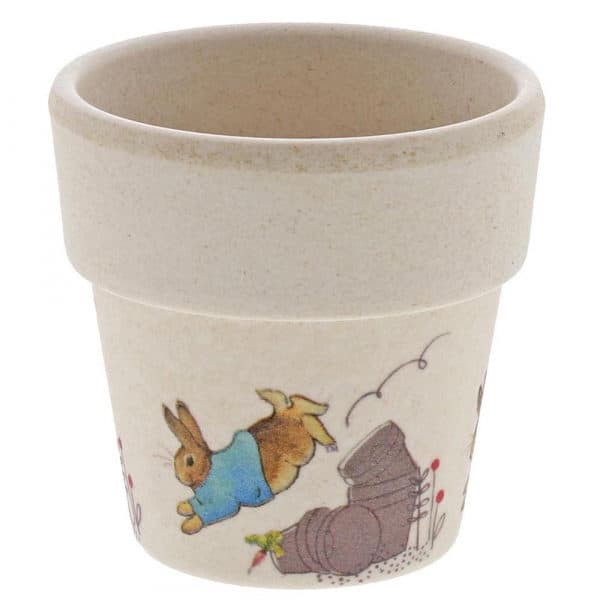 Christmas Peter Rabbit Bamboo Egg Cup Dinner Set Pitter Patter Baby NI 7