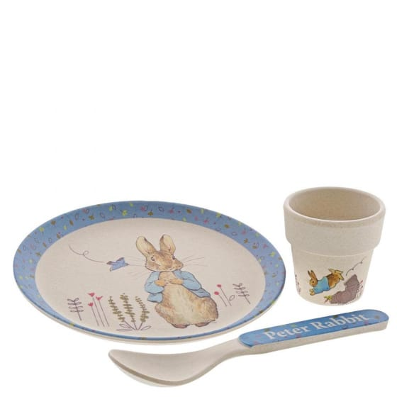 Christmas Peter Rabbit Bamboo Egg Cup Dinner Set Pitter Patter Baby NI 9