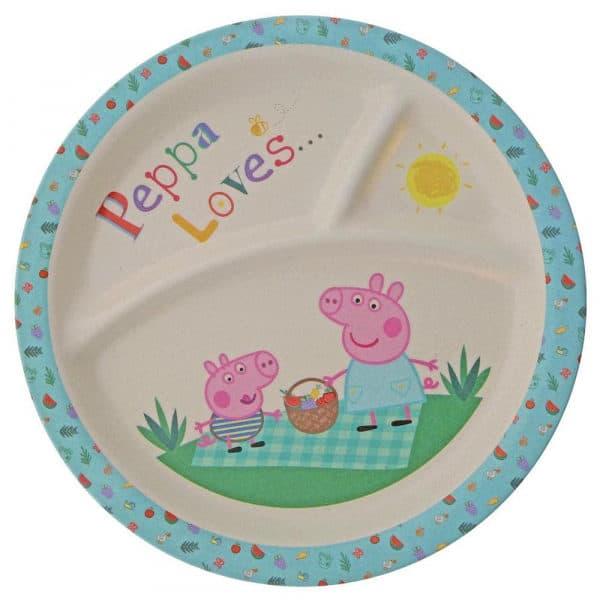 Dinner sets Peppa Pig Bamboo Dinner Set Pitter Patter Baby NI 5
