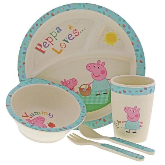 Dinner sets Peppa Pig Bamboo Dinner Set Pitter Patter Baby NI 4