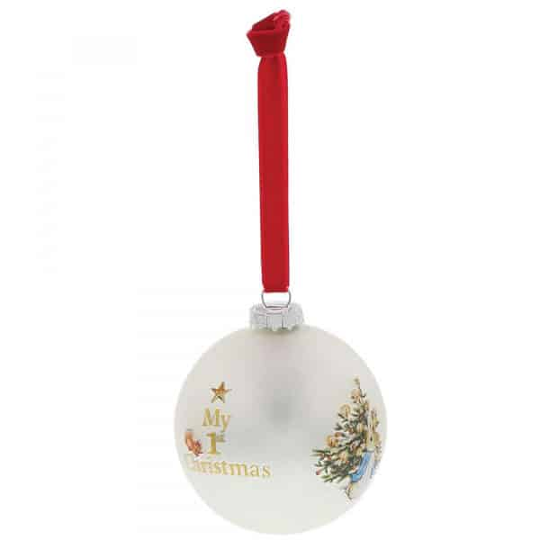 Christmas Peter Rabbit My First Christmas Bauble Pitter Patter Baby NI 7