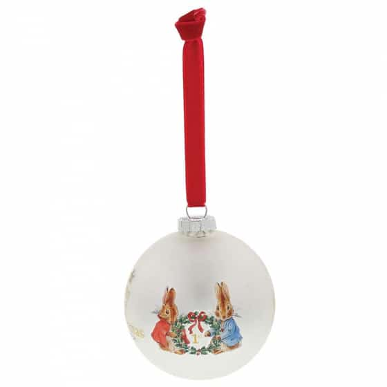 Christmas Peter Rabbit My First Christmas Bauble Pitter Patter Baby NI 8