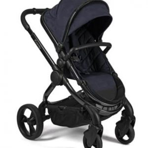 Peach Pushchair and Carrycot – Phantom Navy Check