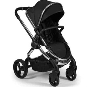 Peach Pushchair and Carrycot – Chrome Black Twill