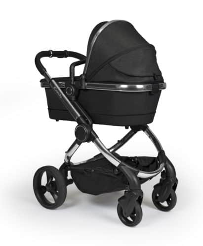 Travel Systems Peach Pushchair and Carrycot – Chrome Black Twill Pitter Patter Baby NI 6