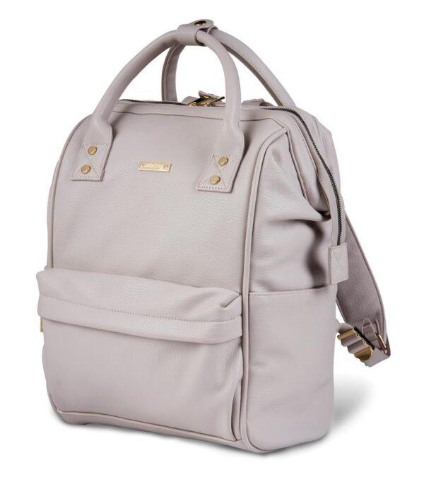 Changing Bags MANI VEGAN LEATHER BACKPACK CHANGING BAG – BLUSH GREY Pitter Patter Baby NI 5
