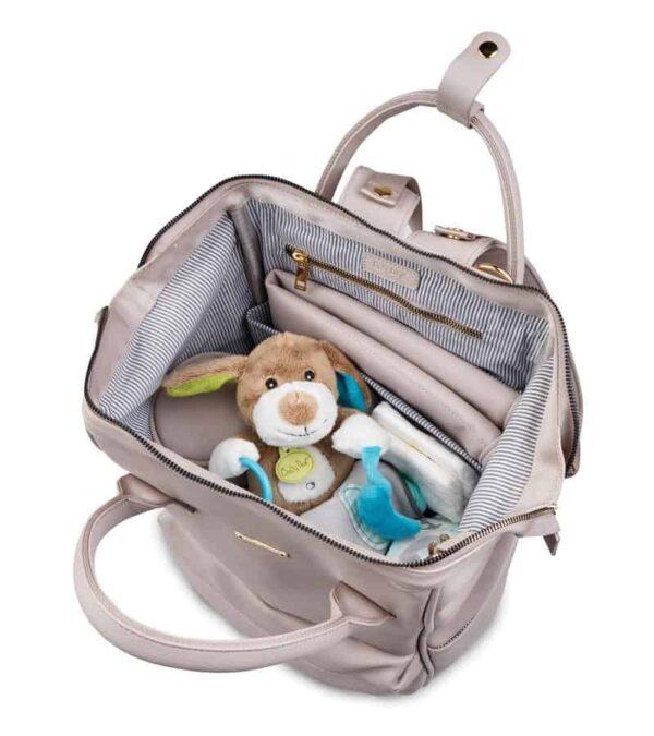 Changing Bags MANI VEGAN LEATHER BACKPACK CHANGING BAG – BLUSH GREY Pitter Patter Baby NI 10
