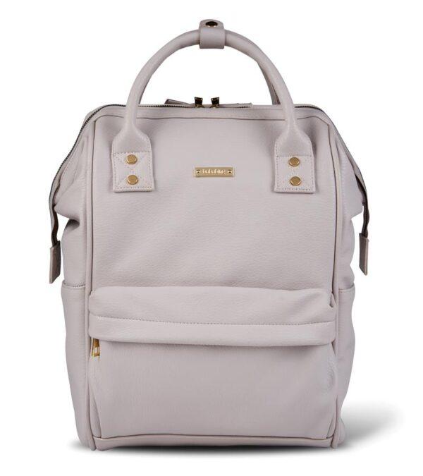 Changing Bags MANI VEGAN LEATHER BACKPACK CHANGING BAG – BLUSH GREY Pitter Patter Baby NI 11