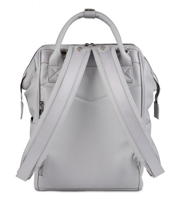 Changing Bags MANI VEGAN LEATHER BACKPACK CHANGING BAG – DOVE GREY Pitter Patter Baby NI 6