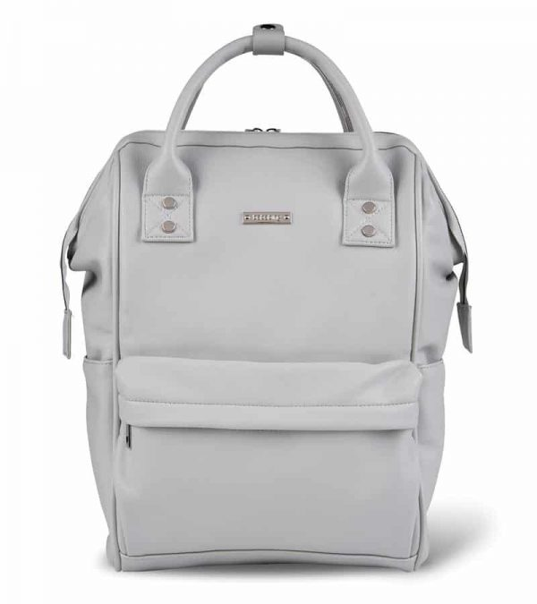 Changing Bags MANI VEGAN LEATHER BACKPACK CHANGING BAG – DOVE GREY Pitter Patter Baby NI 11