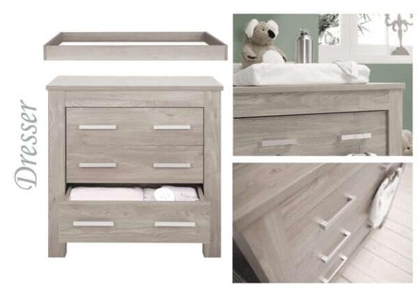 Nursery Furniture & Safety Bordeaux ash 3pc furniture set Pitter Patter Baby NI 5