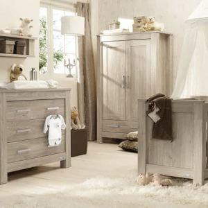 Cots, Cotbeds & travel cots Bordeaux ash 3pc furniture set Pitter Patter Baby NI