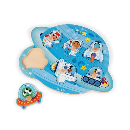 Jigsaws HAPPY SPACE PUZZLE 6 PIECES (WOOD) Pitter Patter Baby NI 5