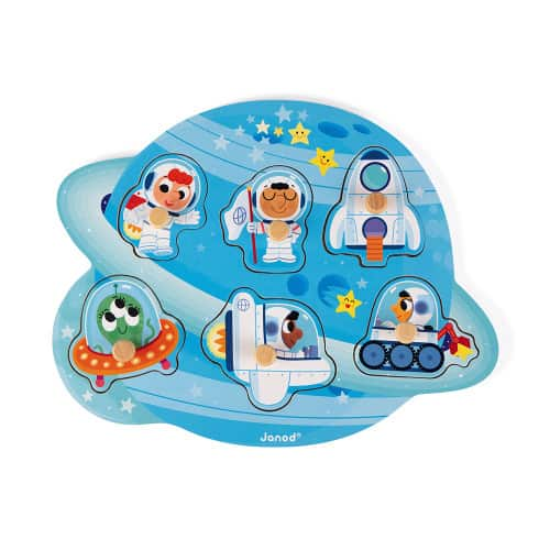Jigsaws HAPPY SPACE PUZZLE 6 PIECES (WOOD) Pitter Patter Baby NI 4
