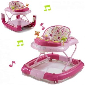 My Child Walk n Rock Musical Baby Walker / Rocker – Pink