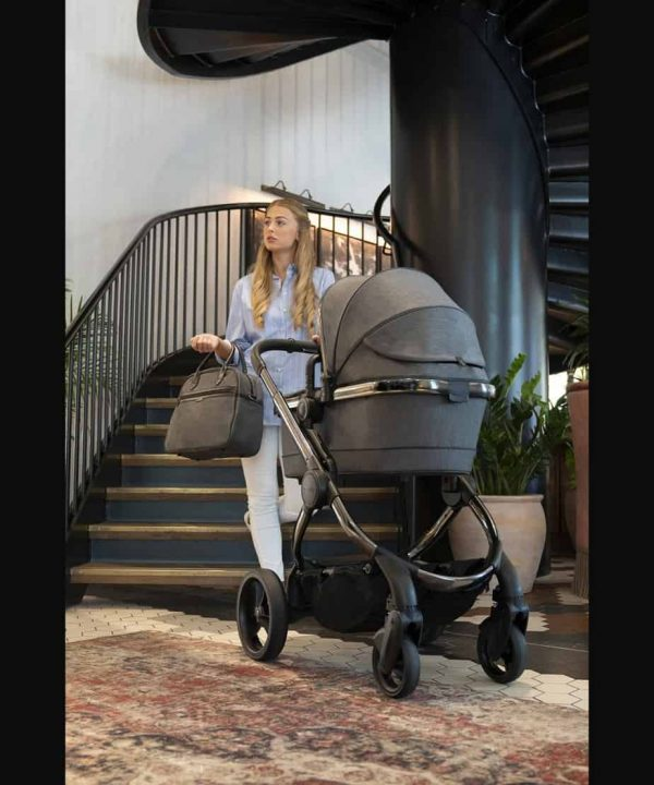 Travel Systems Peach Pushchair and Carrycot Grey Twill on Phantom Pitter Patter Baby NI 7